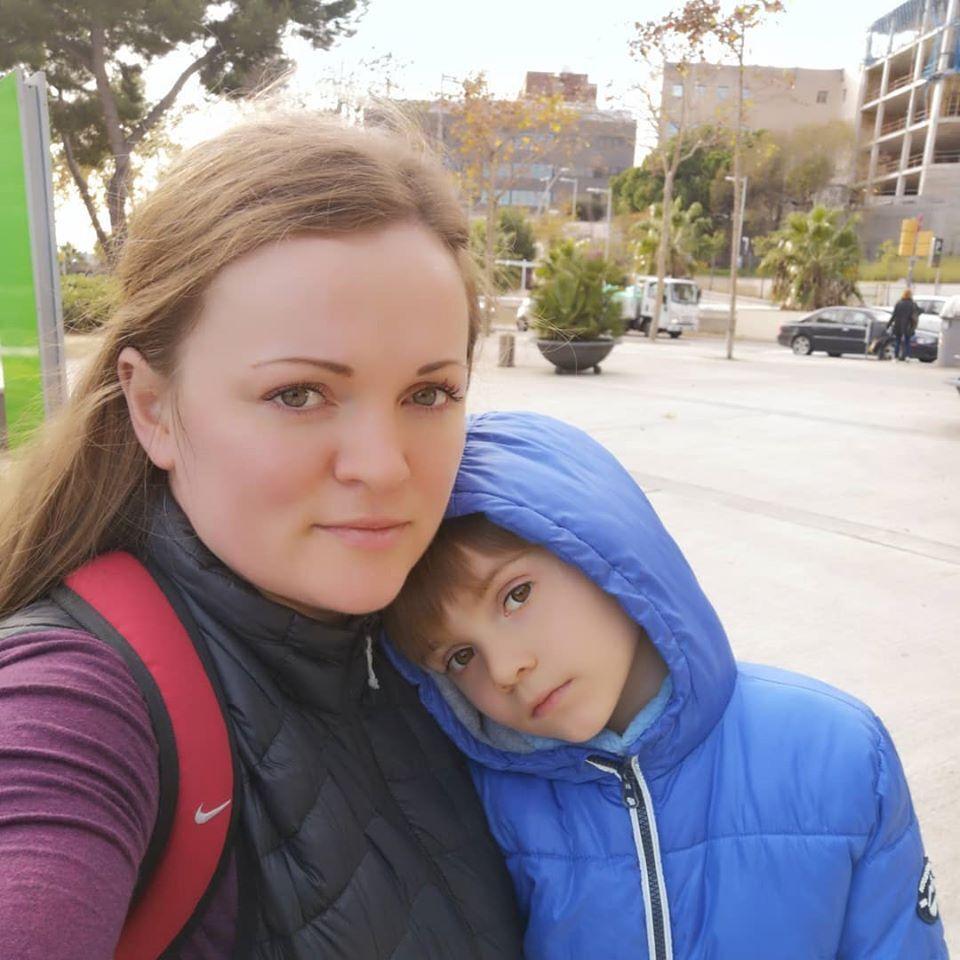Мама Людмила з Дімою