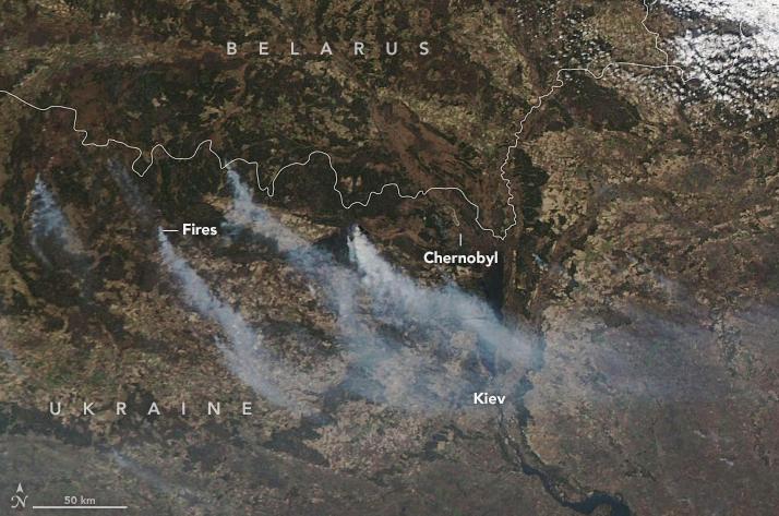 Пожежі в Чорнобилі 8 квітня
