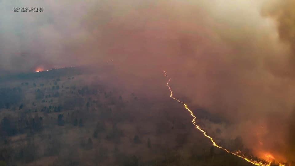 Пожежа в Чорнобильській зоні