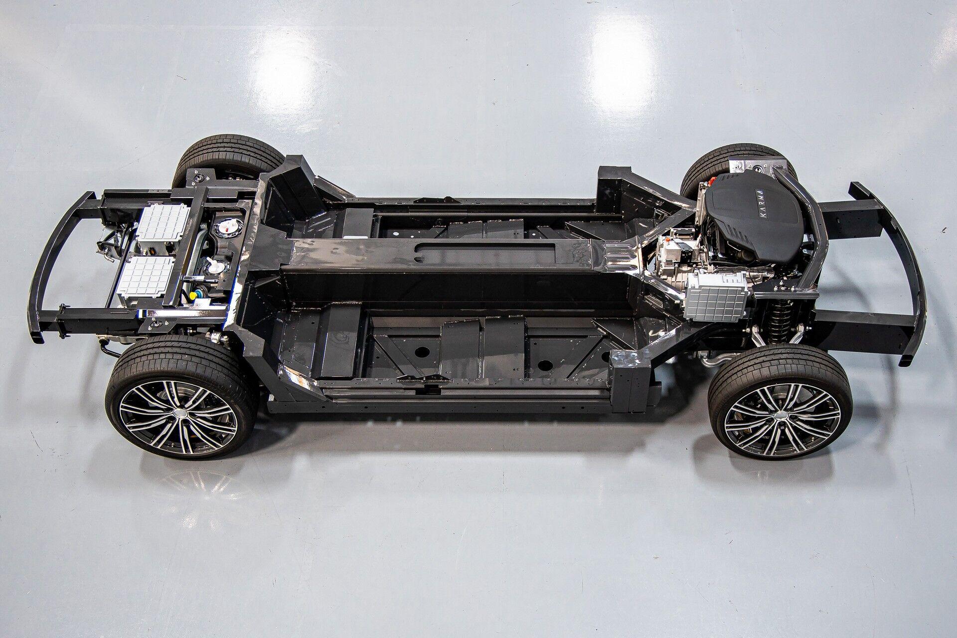 Модульная платформа Karma E-Flex может использоваться на авто различных типов