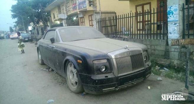 Брошенный Rolls-Royce Phantom Drophead Coupe. Оказалось, фото было сделано ещё в 2018-м
