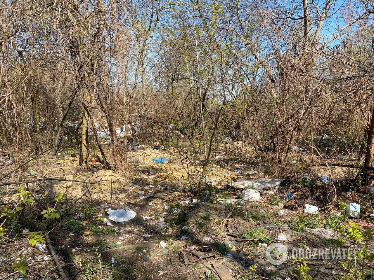 Лагерь бездомных на Позняках