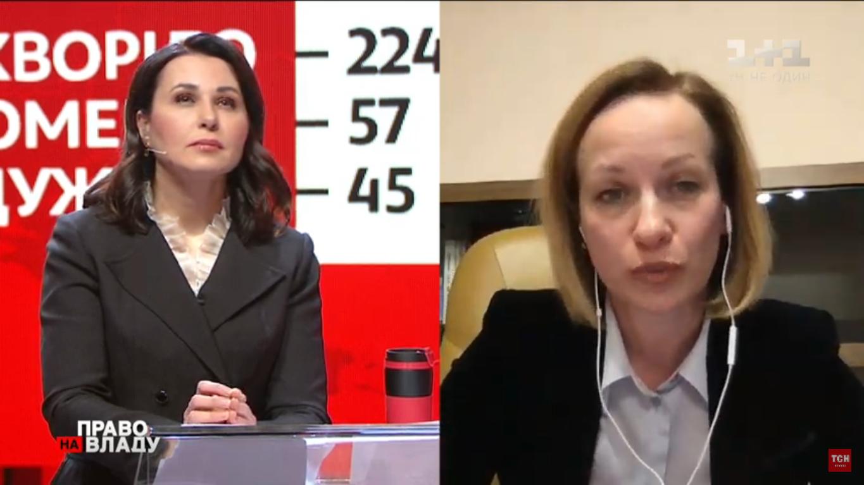 Наталья Мосейчук, ведущая ток-шоу, и Марина Лазебная
