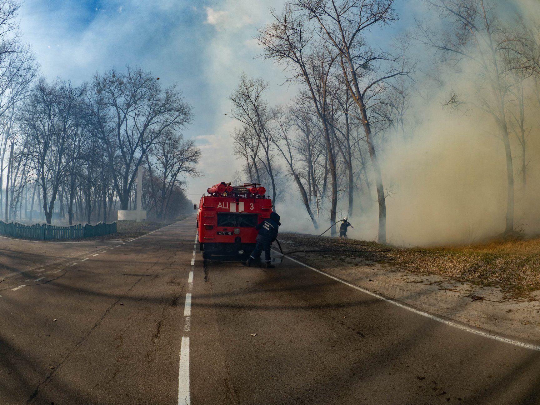 Пожары в Чернобыльской зоне отчуждения