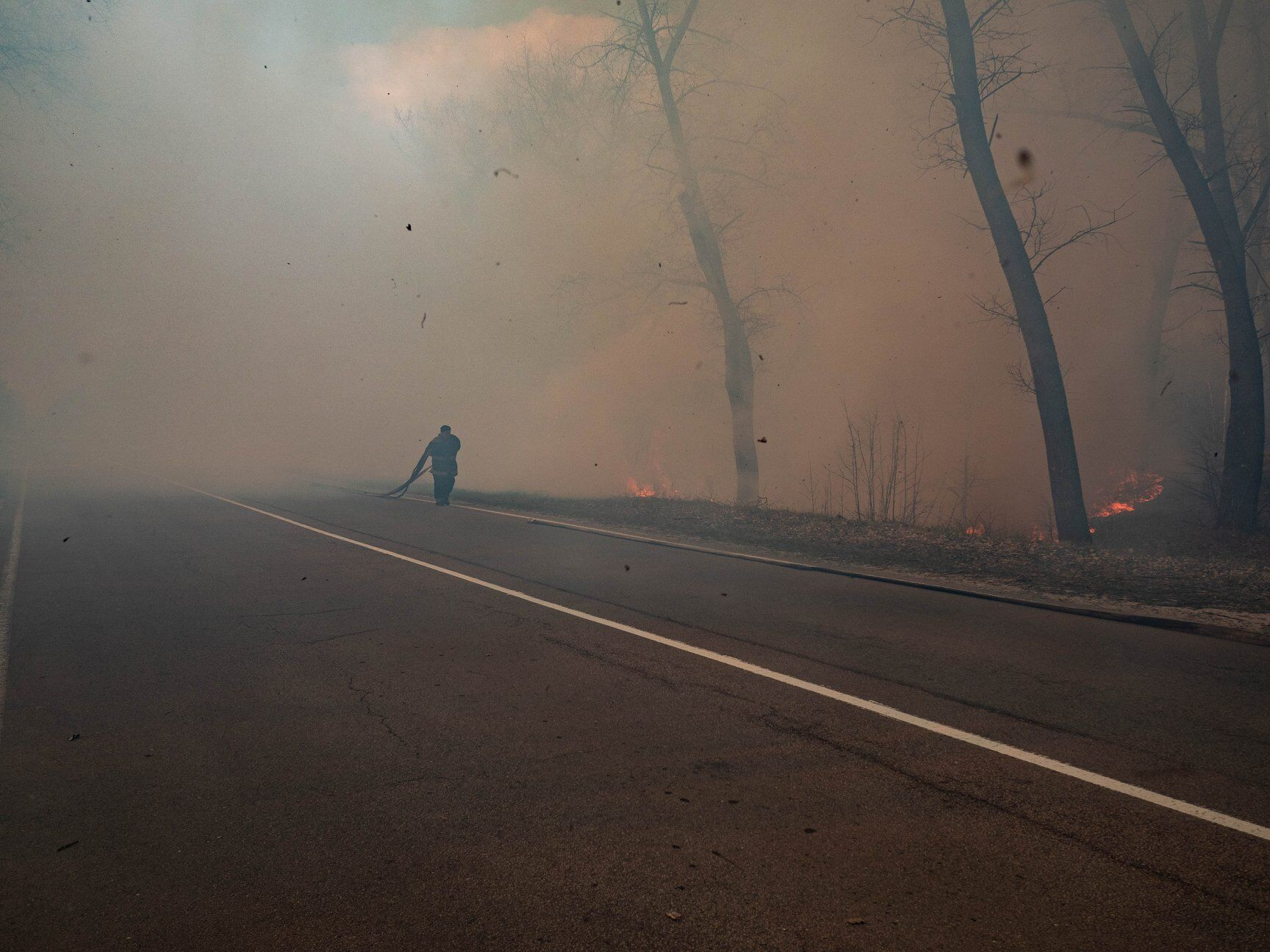 Пожежі у Чорнобильській зоні відчуження