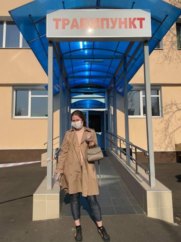 В Киеве полицейские жестоко задержали девушку за нарушение карантина