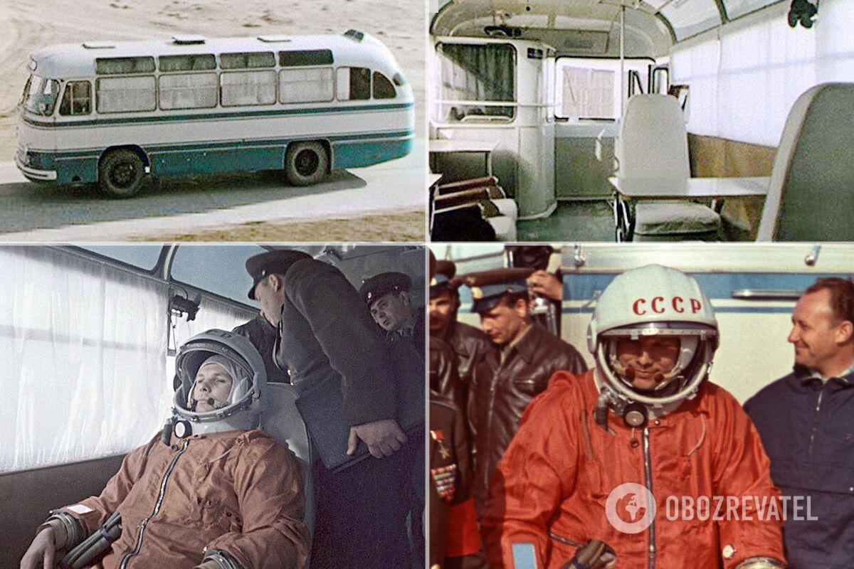 """12 апреля 1961 года ЛАЗ-695Б отвез Гагарина и его товарищей к старту корабля """"Восток-1"""""""
