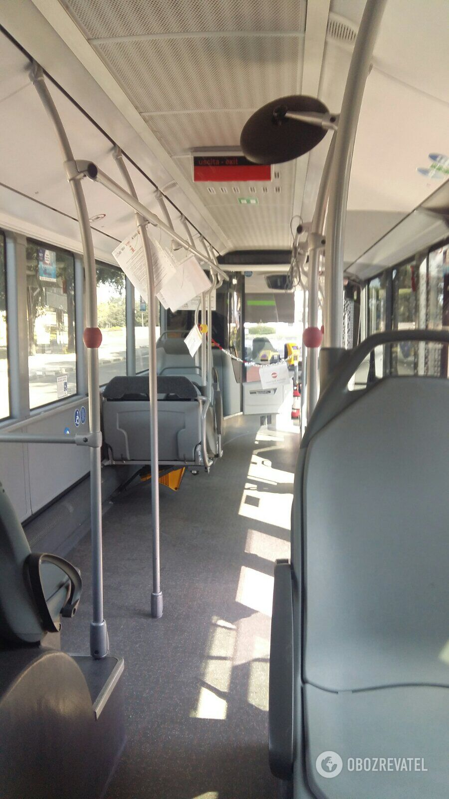 Автобуси в Італії порожні