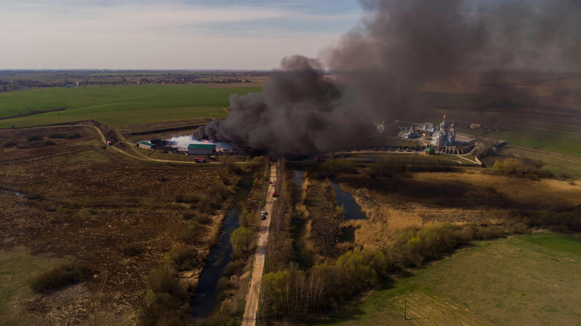 Пожар в Липках