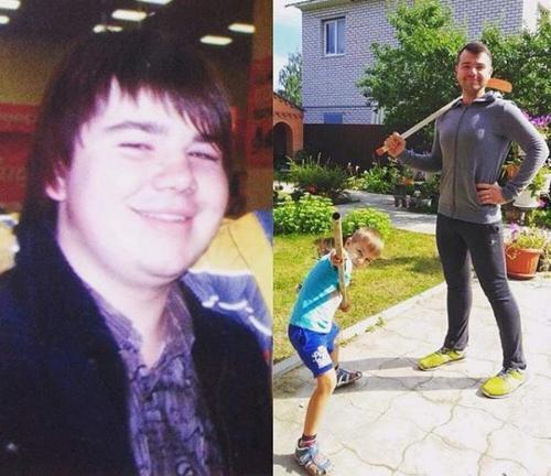 Михайло Казаков до і після схуднення