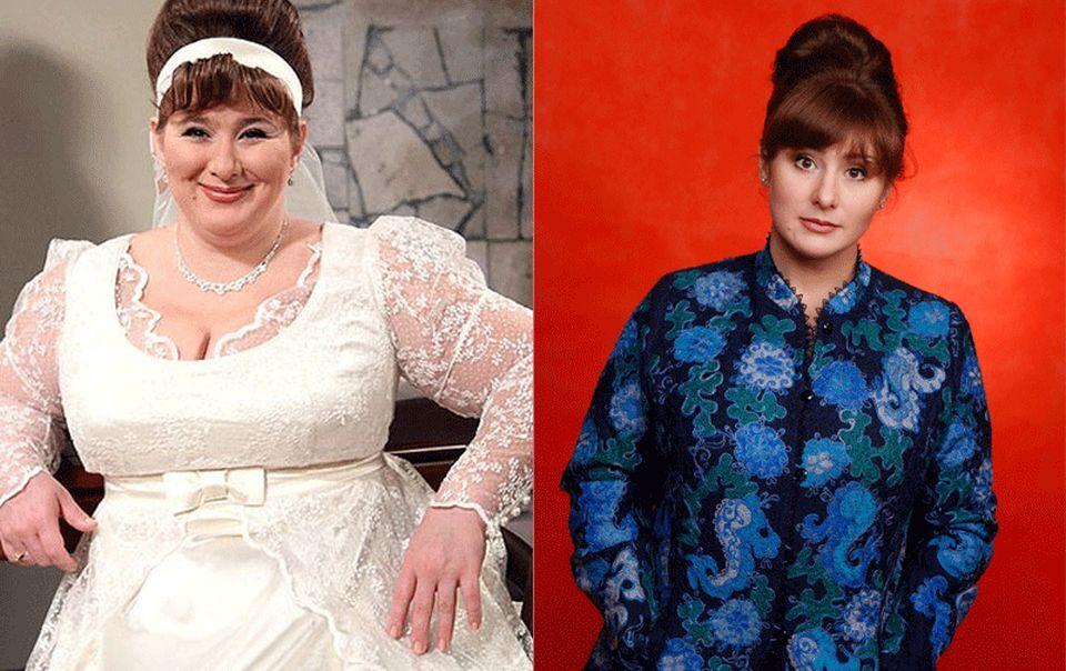 Юлія Куварзіна до і після схуднення