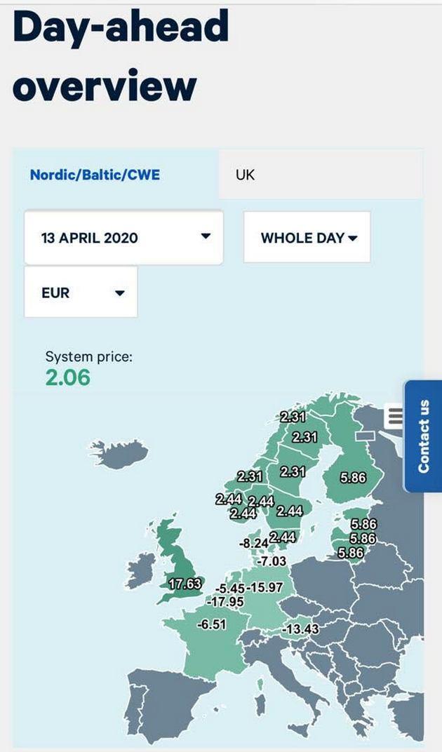 У Європі обвалилися ціни на електроенергію