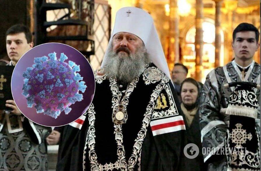 В Киево-Печерской лавре несмотря на эпидемию коронавируса проводят массовые богослужения