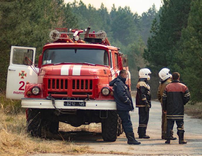 Пожежі у Чорнобилі