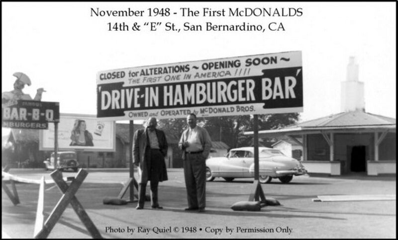 """""""МакДональдс"""" в Сан-Бернардино, Калифорния, 1948 год"""