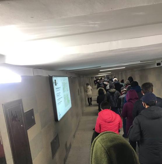 Очереди в метро Москвы