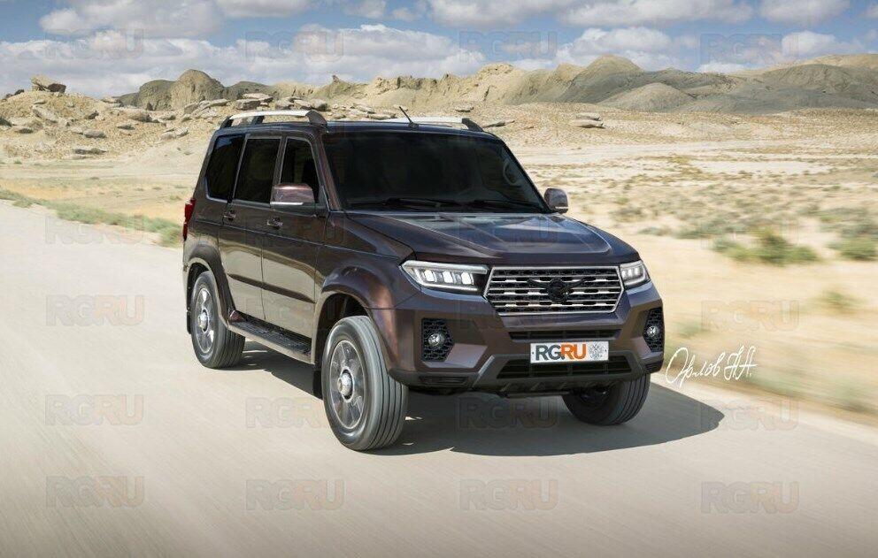Еще один вариант дизайна нового УАЗ 2022 модельного года