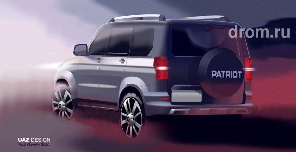 Таким новый УАЗ Патриот видят дизайнеры компании