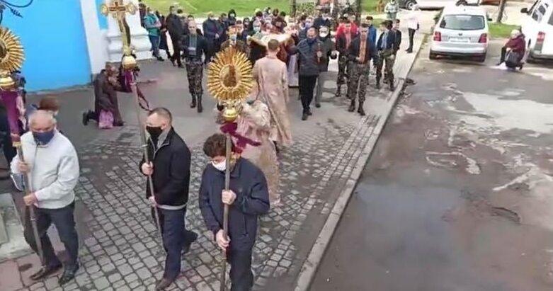 У Самборі служителі церкви і парафіяни порушили карантин