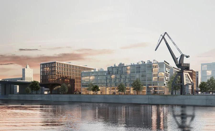 Проект Нового Подола на месте Киевского речного порта