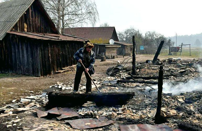 Дома сгорели за полтора часа