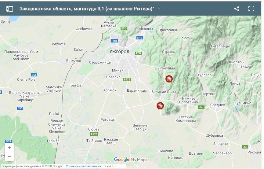 На Великдень у Закарпатській області трапилися два землетруси