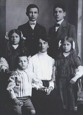 Інеса Арманд з дітьми