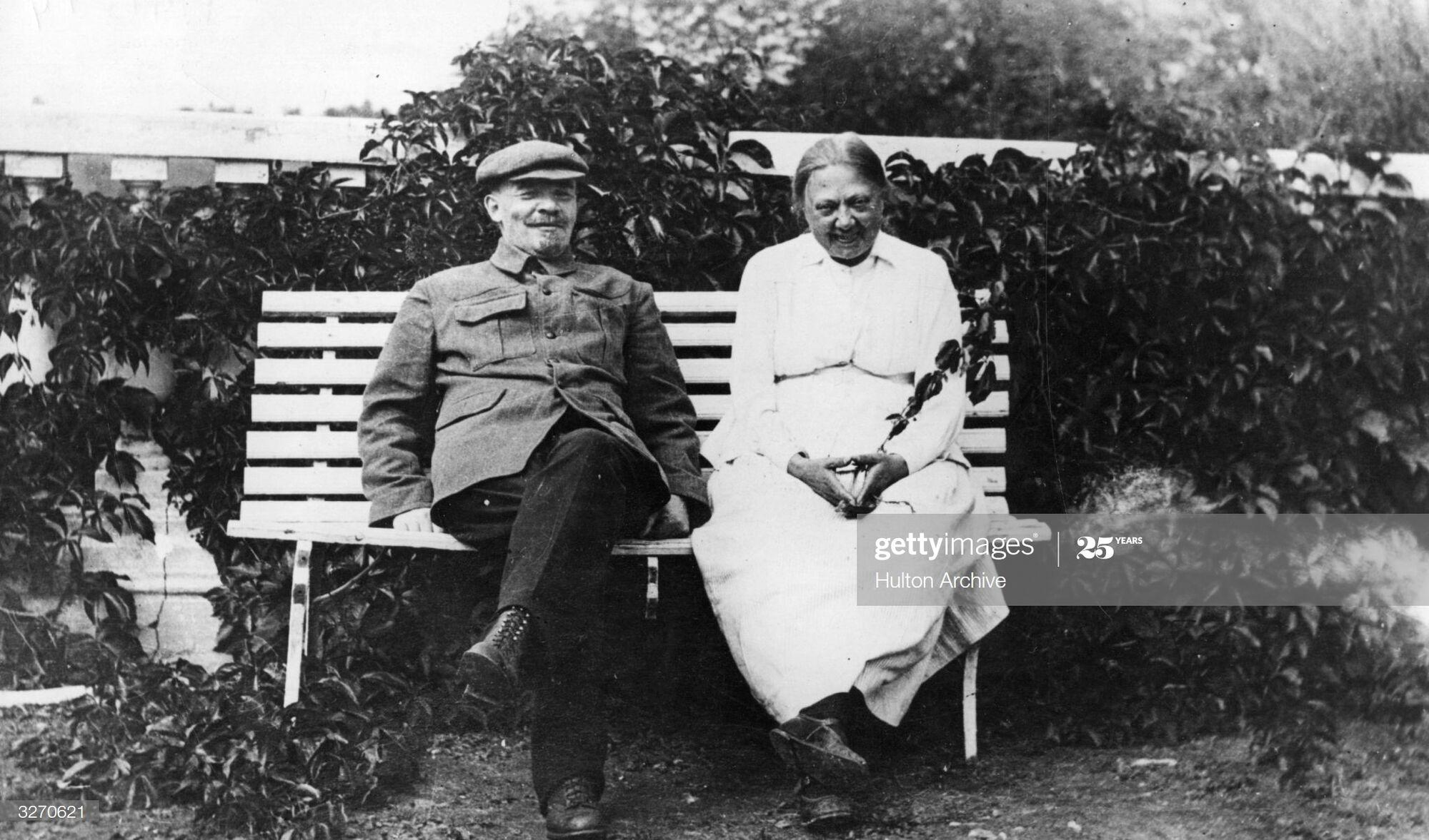 Володимир Ленін і Надія Крупська, 1922 рік