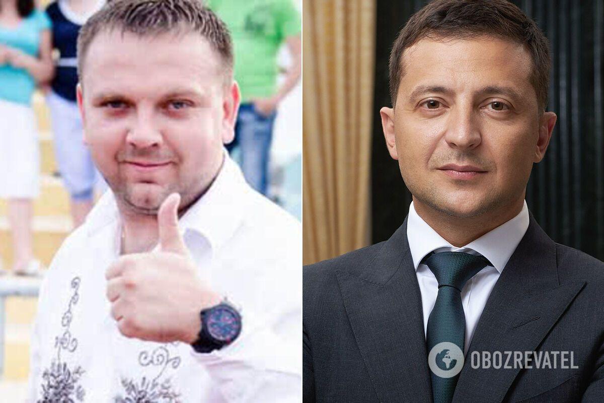 Максим Ткаченко и Владимир Зеленский