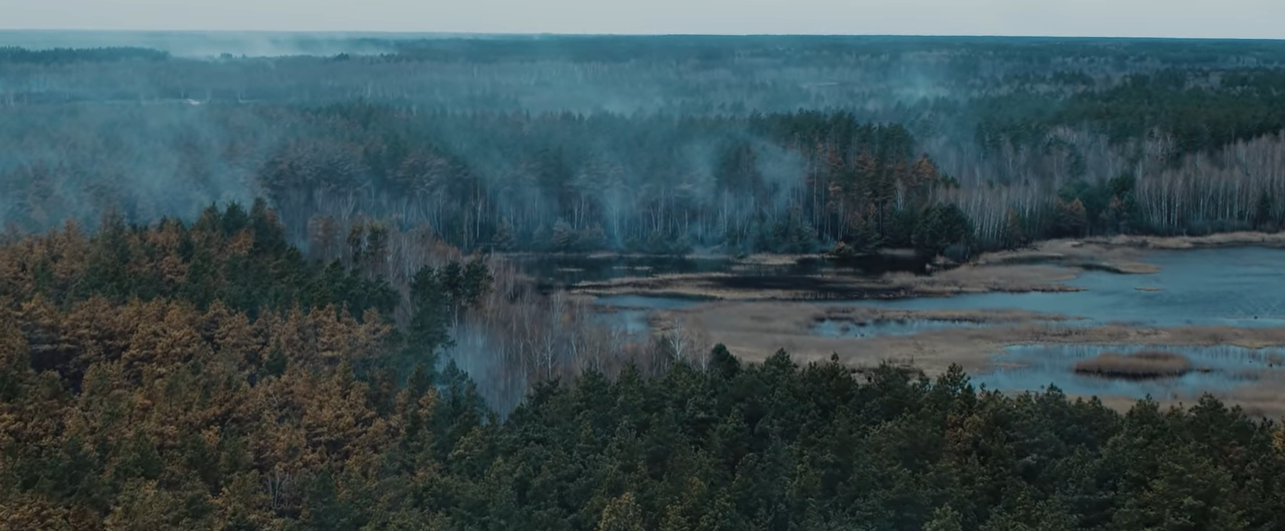 Последствия пожаров в Чернобыле