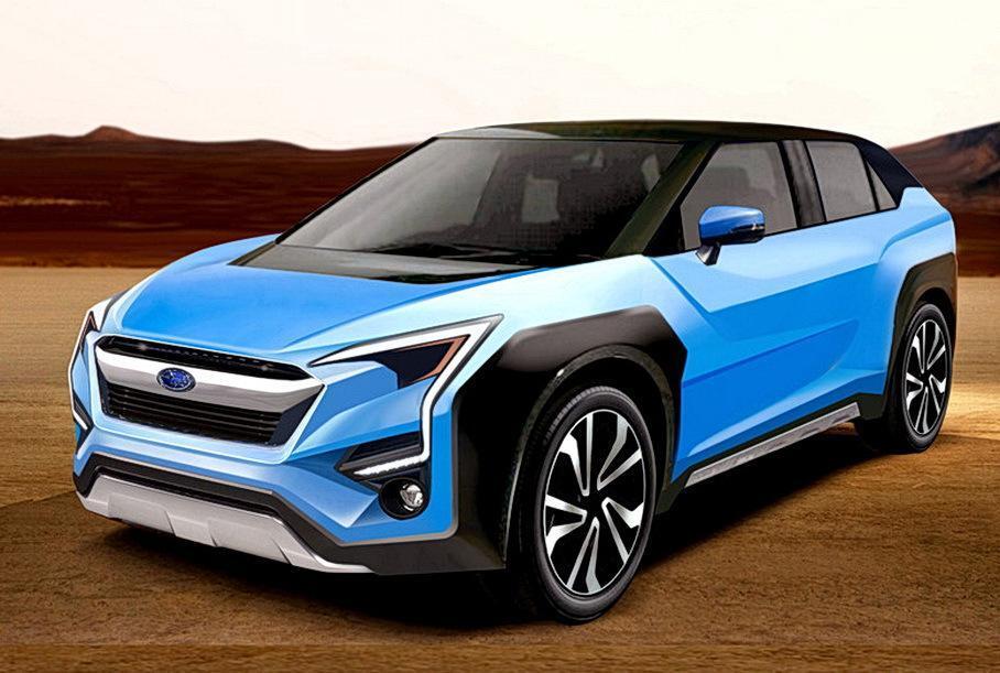 Предполагаемый внешний вид первого электромобиля Subaru