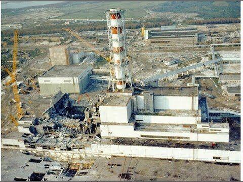 Разрушенный четвертый блок ЧАЭС