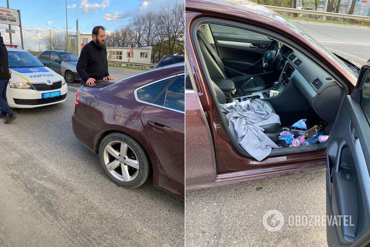 В Харькове священник попался пьяным за рулем