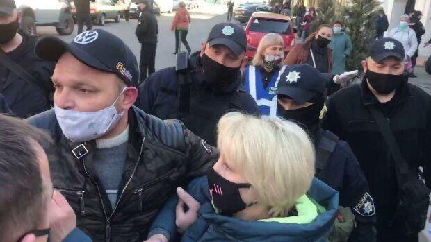 Протесты в Мелитополе