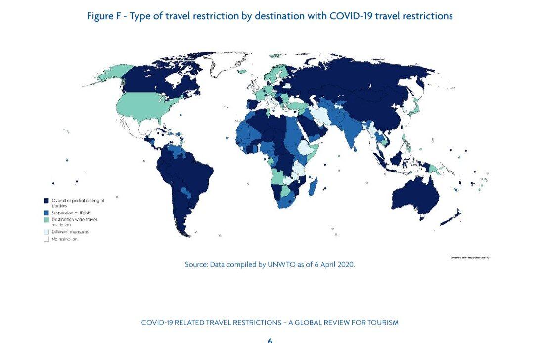 Туристам ограничен доступ к 209 направлениям