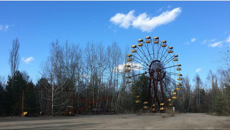 Легендарное колесо обозрения в Припяти