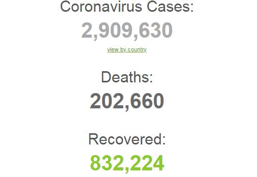 Коронавирус с новой силой ударил по миру и Украине: статистика на 25 апреля. Постоянно обновляется