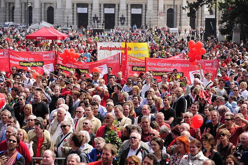 Демонстрація до Дня праці у Відні, 2013 рік
