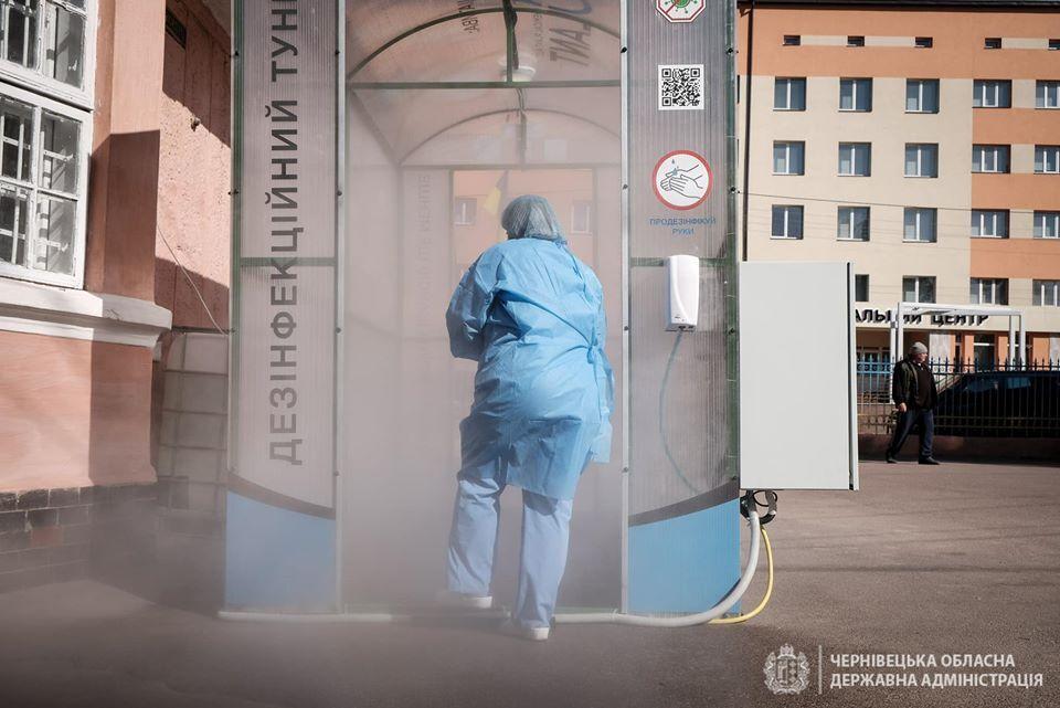 Дезинфекционный тоннель в больнице