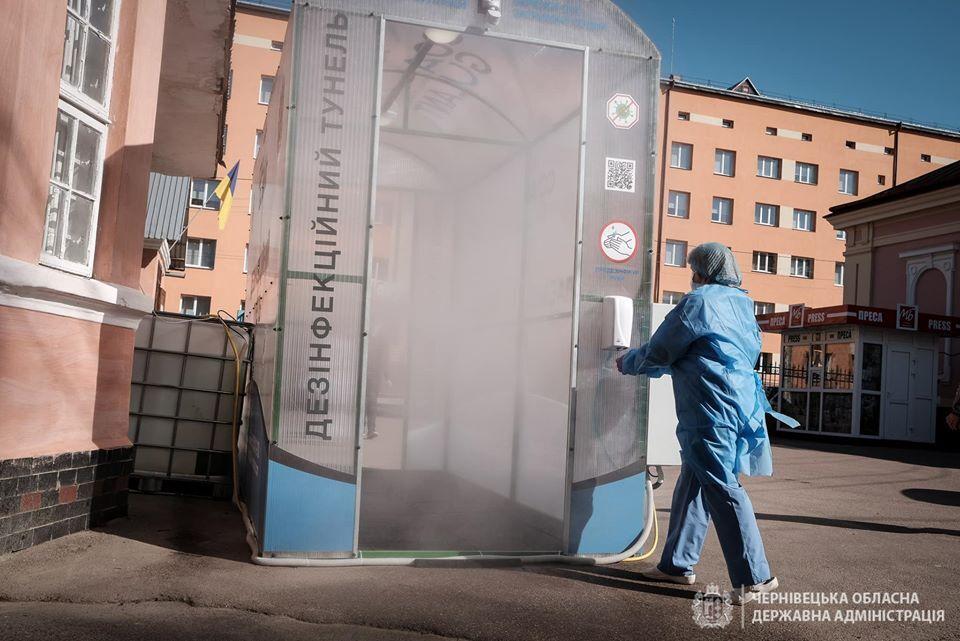Дезінфекційний тунель в лікарні