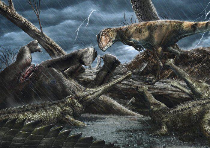 Ілюстрація з динозаврами
