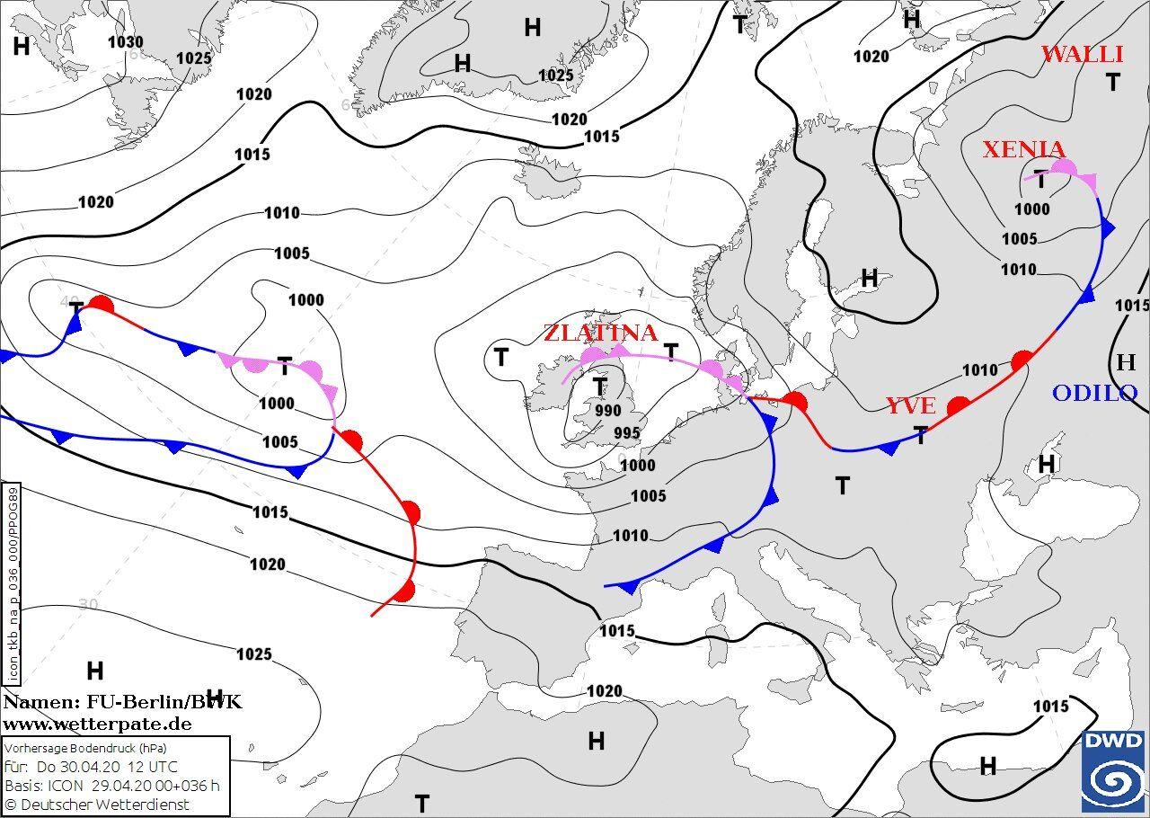 Небольшой циклон над Киевом