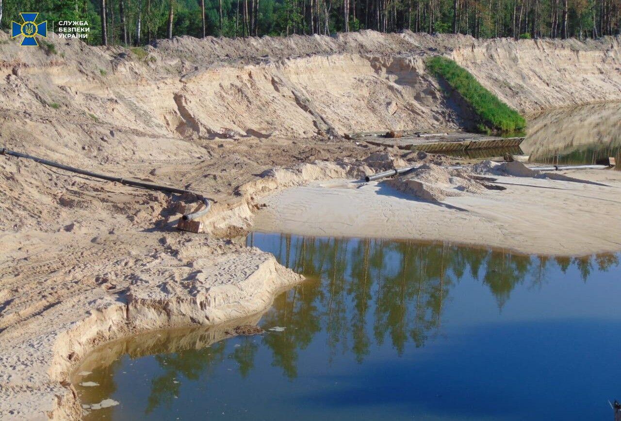СБУ викрила незаконний видобуток піску на Житомирщині