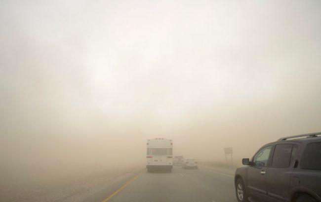 Пыльная буря в Киеве