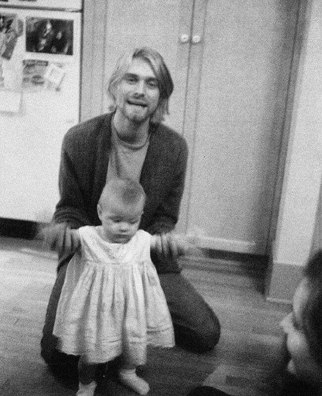 Курт Кобейн і його дочка Френсіс Бін