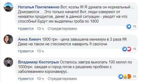В Черкассах мэр купил гробы для жертв коронавируса: денег на ИВЛ не дал