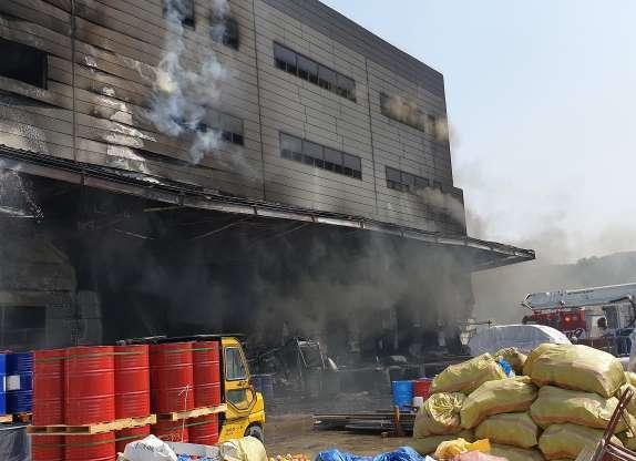 Пожар в Инчхоне
