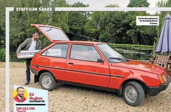 Рекламный плакат праворульной ЗАЗ-1102 в Англии. 1991 год