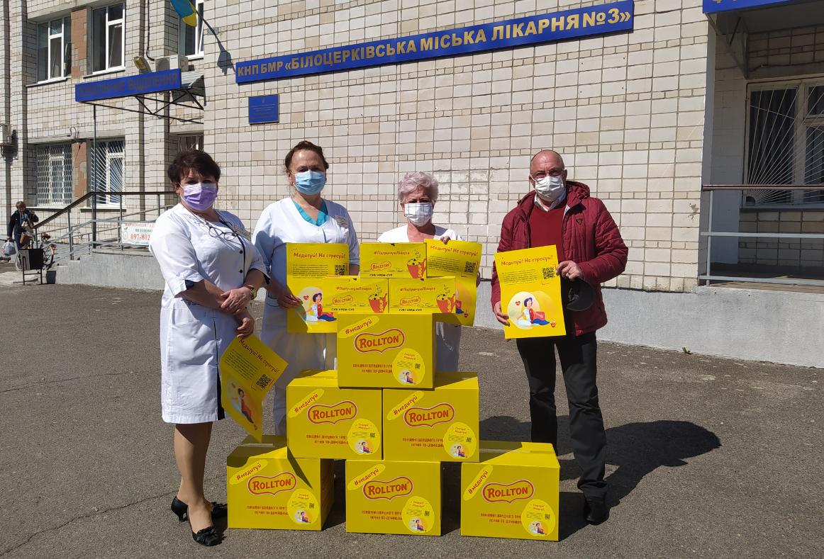 Духовне та фізичне підкріплення для українських лікарів від міжнародної компанії