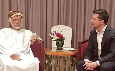 Володимир Зеленський на зустрічі з султаном Оману